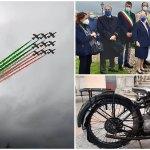 Genova, il sorvolo delle Frecce Tricolori per la svelatura della statua di Giorgio Parodi