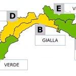 Meteo, Liguria: allerta gialla piogge sul centro della regione nel fine settimana