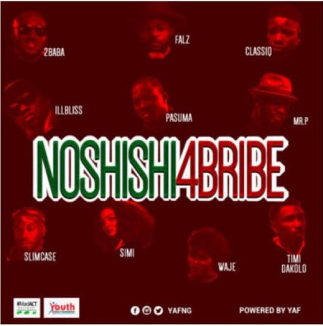"""Video: 2Baba, Simi, Pasuma, Falz, Mr P, Slimcase, & Others – """"No Shishi 4 Bribe"""""""