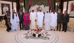 PRESIDENT BUHARI RECEIVES IN AUDIENCE AU CHAIRPERSON . MAHAMAT. DEC 16 2017