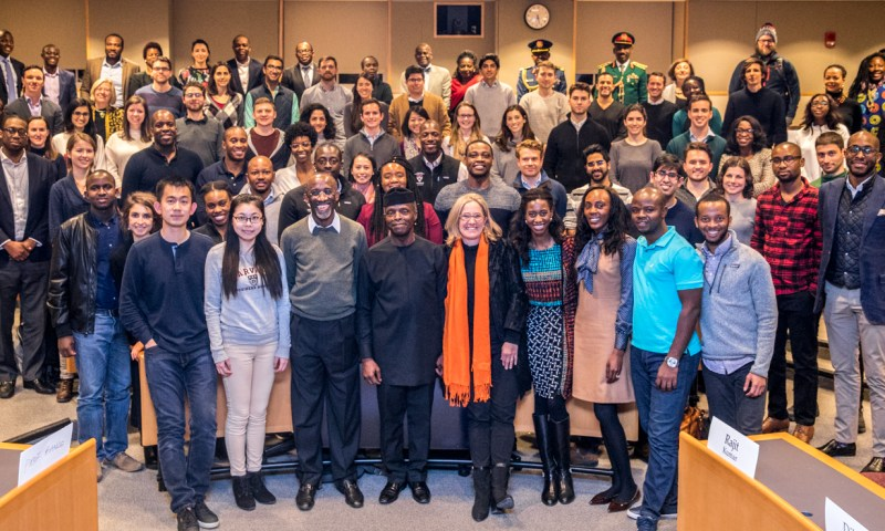 Vice President Yemi Osinbajo, SAN, delivers 'Africa Rising' lecture at Harvard Business School in Boston, USA. 16th January 2018. PHOTOS: NOVO ISIORO.  On his visit he held;