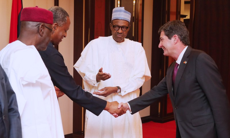 PRESIDENT BUHARI RECEIVES LETTER OF CREDENCE FROM THREE ENVOYS. APRIL 5 2018