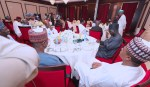 PRESIDENT BUHARI BREAKS RAMADAN FAST WITH SERVICE CHIEFS AND MINISTERS. MAY 22ND 2018
