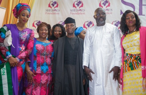 Vice President Yemi Osinbajo, SAN, attends the international SHEROES Forum in Monrovia