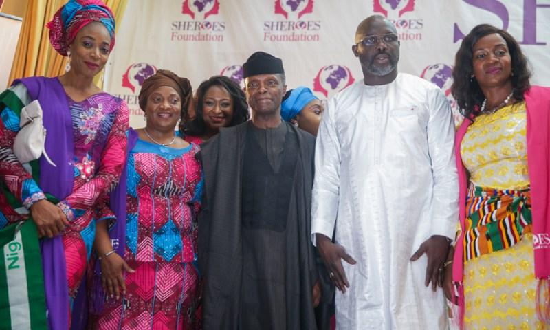 Vice President Yemi Osinbajo, SAN, attends the international SHEROES Forum in Monrovia