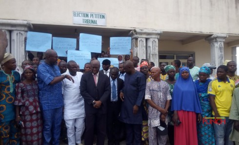 PDP members protest disbandment of Osun election tribunal