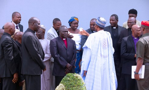 PRESIDENT BUHARI RECEIVED IN AUDIENCE MEMBERS OF THE CHURCH OF CHRIST IN NIGERIA (COCIN) AT THE STATE HOUSE