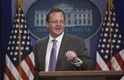 Robert Gibbs at the podium