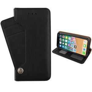 iphone xr hoesje luxe wallet bookcase zwart