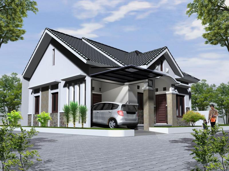 Rumah Minimalis Monokrom