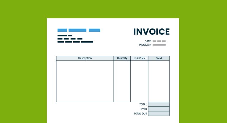 contoh invoice desain menarik