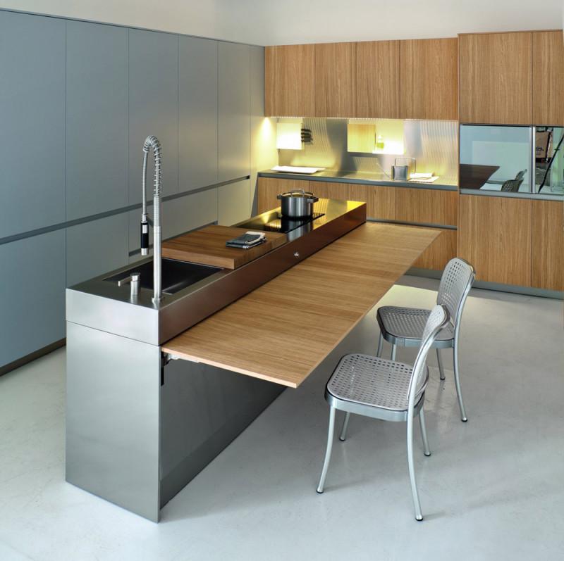 dapur minimalis stainless steel