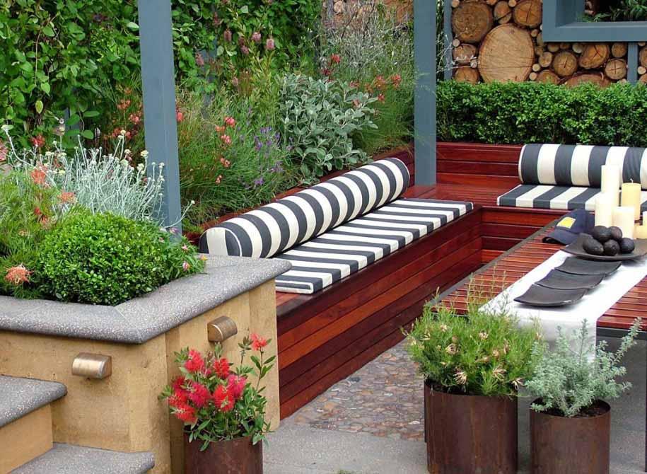 taman minimalis semi outdoor