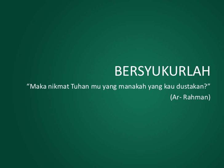 Kata kata Mutiara Islami