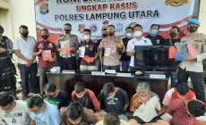 Permalink ke Jelang Ramadhan, Polres Lampung Utara Ringkus 13 Tersangka Kejahatan