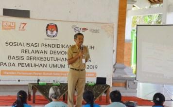 Rumah Sakit Jiwa (RSJ) provinsi Bali bersama KPUD Kabupaten Bangli mengadakan sosialisasi Pemilu serentak