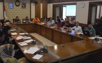 Bupati Tabanan Bali, Ni Putu Eka Wiryastuti saat Rapat Kordinasi pembentukan Badan Pengelola WBD di Jakarta, Selasa (21/5/2019)