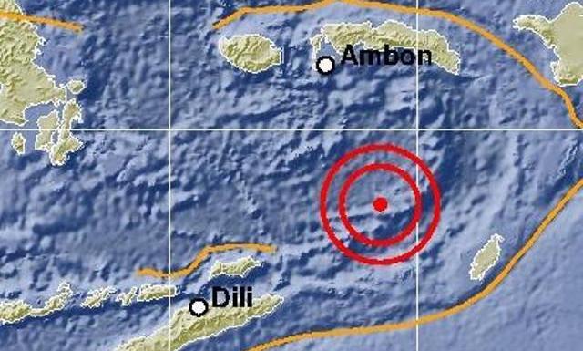 Kabupaten Maluku Tenggara Barat diguncang gempa bumi magnitudo (M) 7,7