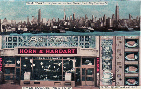 A postcard of the H&H Automat, courtesy Ephemeral New York