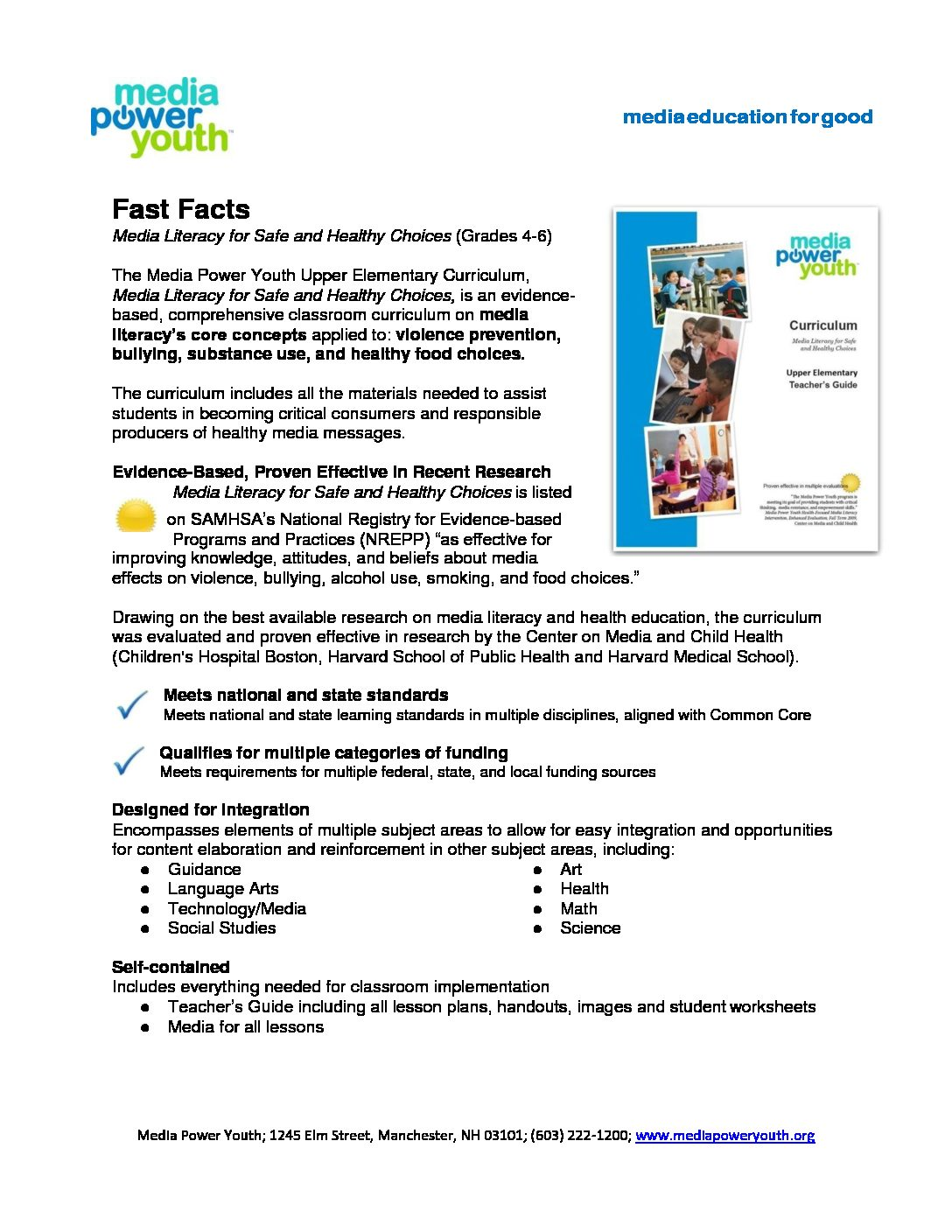 Media Literacy For Safe Amp Healthy Choices Curriculum