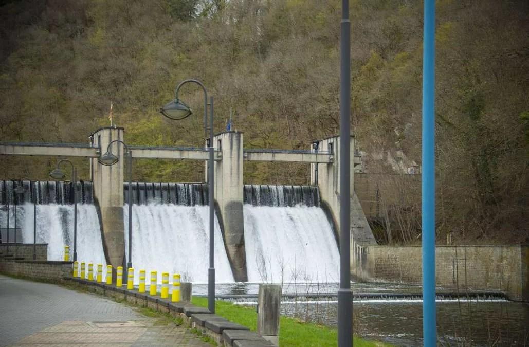 Le barrage sur l'Ourthe à Nisramont