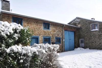 Haute-Bodeux, la maison bleue.