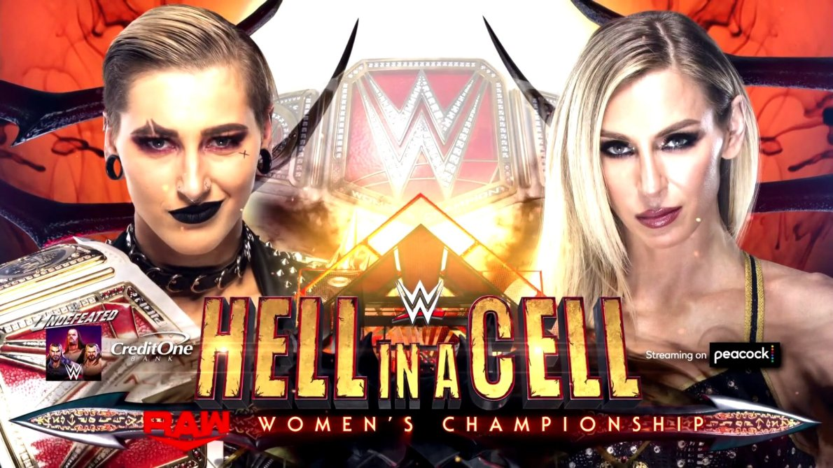 Rhea Ripley reacts to Hell in a Cell match being set up with Charlotte Flair