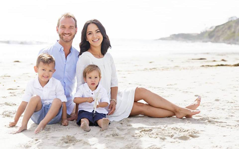 Image result for Motivational Speaker, Nick Vujicic Born Without Limbs Welcomes Twin Girls With Wife. Photos
