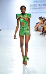 Model wearing a piece from the Africa Inspired Fashion by Heineken at the Heineken Lagos Fashion And Design Week 2017 004