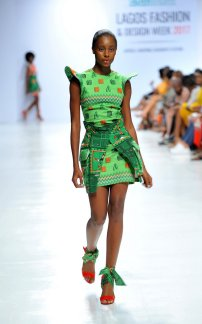 Model wearing a piece from the Africa Inspired Fashion by Heineken at the Heineken Lagos Fashion And Design Week 2017 010