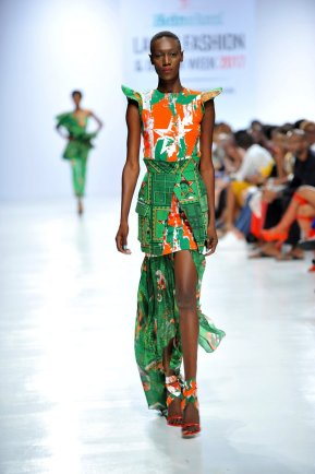 Model wearing a piece from the Africa Inspired Fashion by Heineken at the Heineken Lagos Fashion And Design Week 2017 013