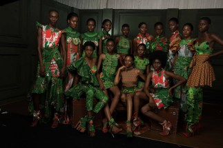 Models wearing the Africa Inspired Fashion by Heineken at the Heineken Lagos Fashion And Design Week 2017