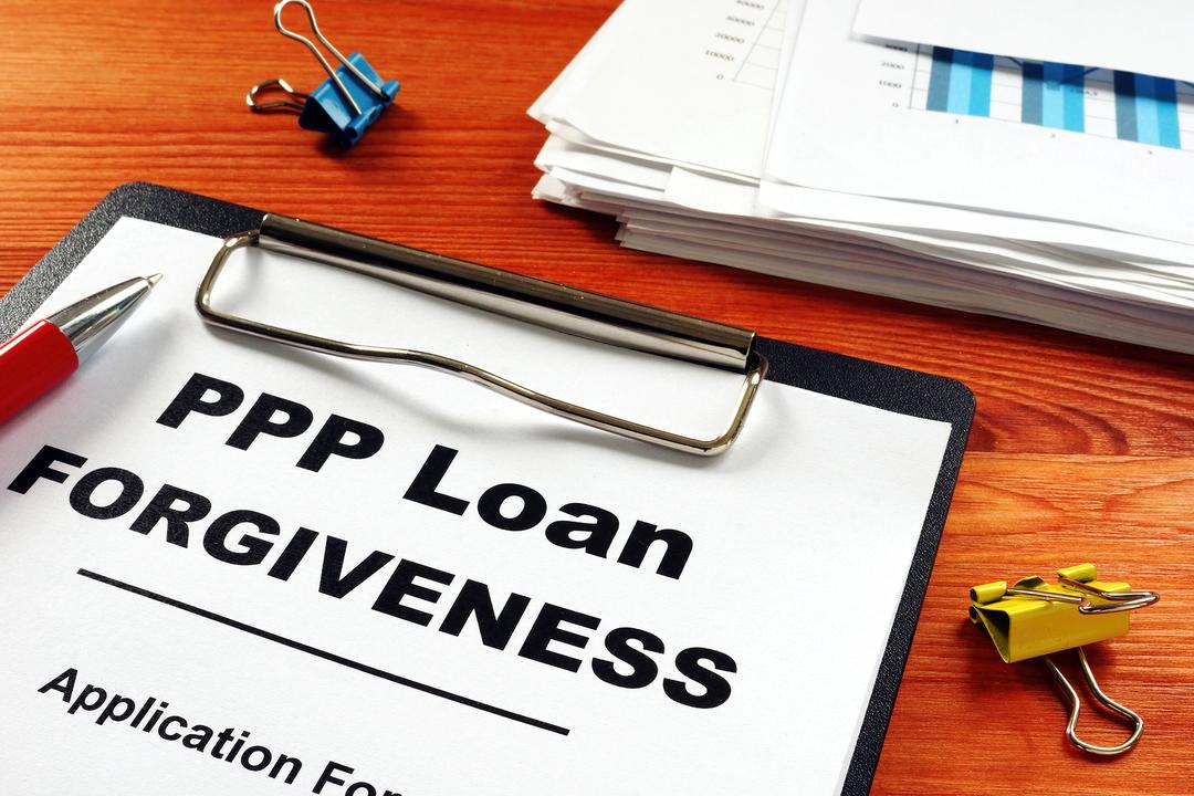 PPP Loan forgiveness application form.