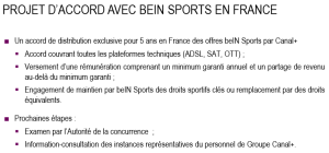 projet bein sports canal+