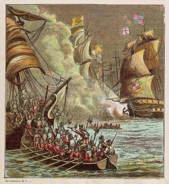 SPANISH ARMADA DEFEATED - The Spanish Armada is defeated ...