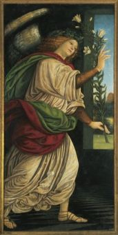 Italy, Varallo, painting of The Archangel Gabriel #9456251