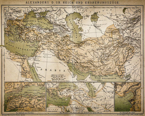 Alexanders Empire Map