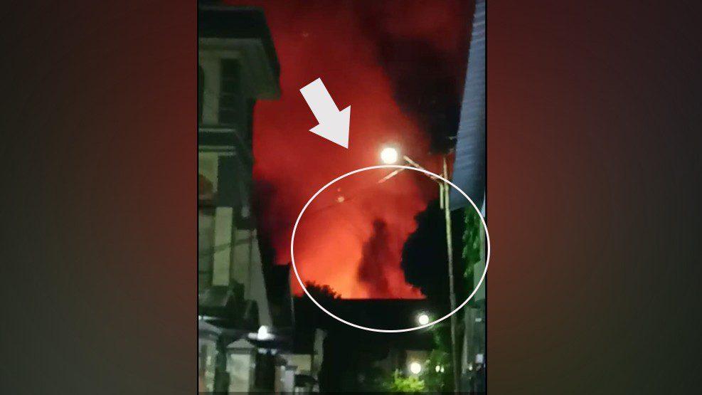 Aneh! Ada Sosok Bentuk Manusia Dalam Kobaran Api Kebakaran Rumah di Pa'jenekang