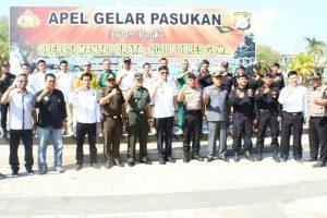 Polres Gowa Laksanakan Apel Gelar Pasukan Operasi Mantap Brata 2018