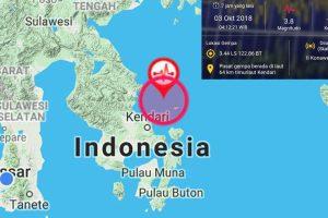 Kendari Diguncang Gempa 3,8 Skala Richter, Tidak Berpotensi Tsunami