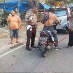 Video: Ditilang Polisi, Pria Ini Ngamuk Hingga Lepas Baju