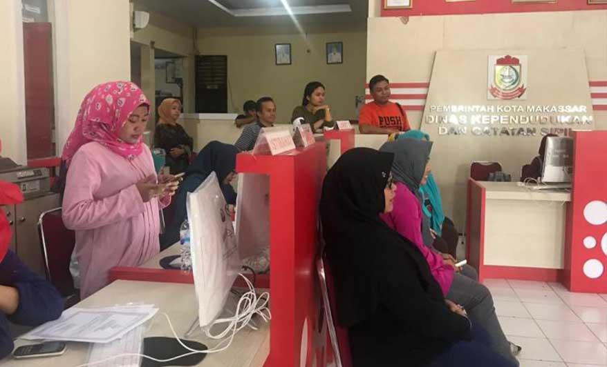 Berikan Pelayanan Cepat, Disdukcapil Kota Makassar Terapkan Sistem Satu Untuk Semua