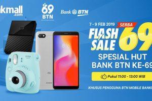 HUT ke-69, Bank BTN Kolaborasi dengan Jakmall.com Berikan Promo Serba 69!