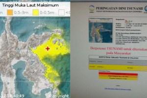 Gempa 6.9 SR, Luwuk Banggai Berpotensi Tsunami