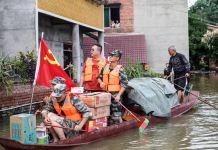 Badai Higos Perparah Banjir dan Tanah Longsor di China