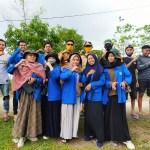 Mahasiswa KKP Fisip Unismuh Makassar Gotong Royong Perbaikan Talud Jembatan Perbatasan Rajaya-Bontokadatto Takalar