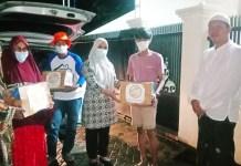 Plt Lurah Biring Romang Serahkan Bantuan ke Pengungsi Gempa Sulbar