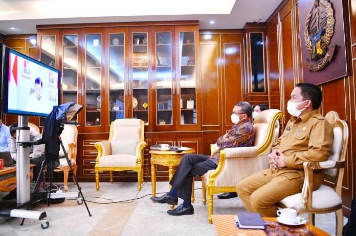 Gubernur Sulsel ikuti Rakor Bappenas RI secara Virtual