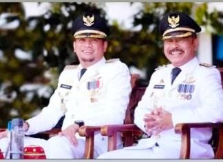 Bupati Gowa Adnan Purichta Ichsan dan Wakil Bupati Abdul Rauf Malaganni.
