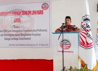 Ketua DPK LIPAN Maros Muh. Tahir,